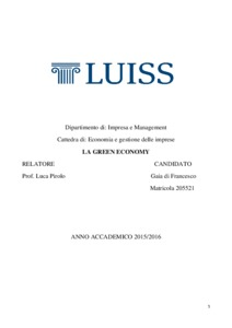 thesis on green economy