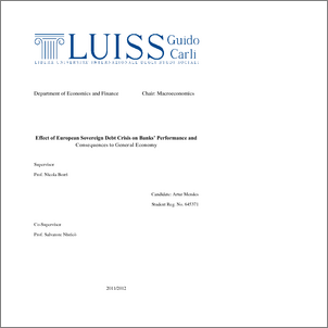 european debt crisis thesis Europeanization in the european union: the case of portugal during the sovereign debt crisis by alia chanel gant a thesis submitted in partial fulfillment.
